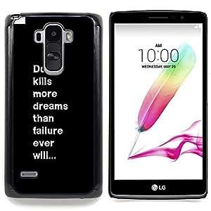 Eason Shop / Premium SLIM PC / Aliminium Casa Carcasa Funda Case Bandera Cover - Inspiring mensaje de texto - For LG G4 Stylus H540