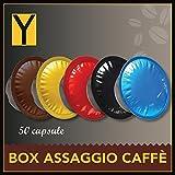 Yespresso Capsule Lavazza a Modo Mio Compatibili Box Caffè 5 Miscele - Confezione da 50 Pezzi