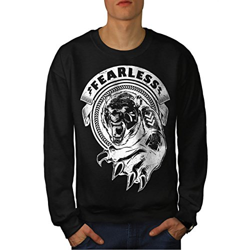 [Fearless Wild Animal Tiger Bear Men NEW S Sweatshirt | Wellcoda] (Bear Jew Costume)