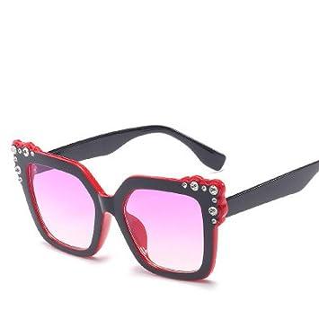 GJYANJING Gafas De Sol Señoras Diamante Cristal Rosa Gafas ...