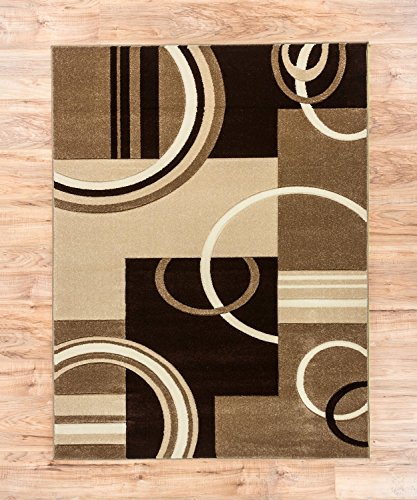Echo Shapes Amp Circles Ivory Beige Brown Modern Geometric