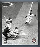 "Jackie Robinson Brooklyn Dodgers Action Photo (Size: 9"" x 11"") Framed"