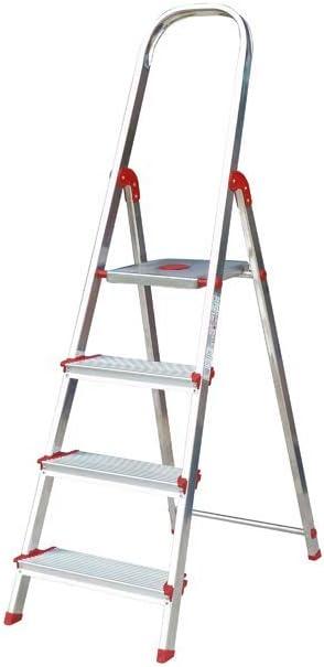 Escalera Rolser Aluminio Norma 220 4 Peldaños anchos: Amazon.es: Hogar