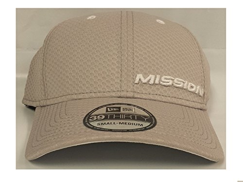 Bauer Hockey Mission New Era 39THIRTY Hockey Hat, Gray With White Logos (S-M) ()