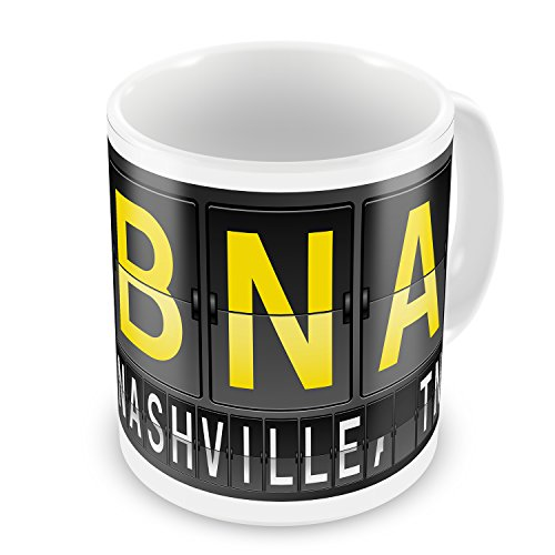 Coffee Mug BNA Airport Code for Nashville, TN - - Tn Nashville Airport
