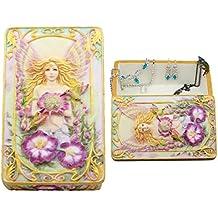 "Ebros Gift Jody Bergsma Art Gallery Faith Fairy Jewelry Box Figurine 6.5""L Decorative Keepsake Knick Knack Trinket Box"