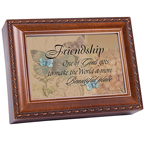 (Cottage Garden Friendship Woodgrain Traditional Music Box Plays Thats What Friends Are For)