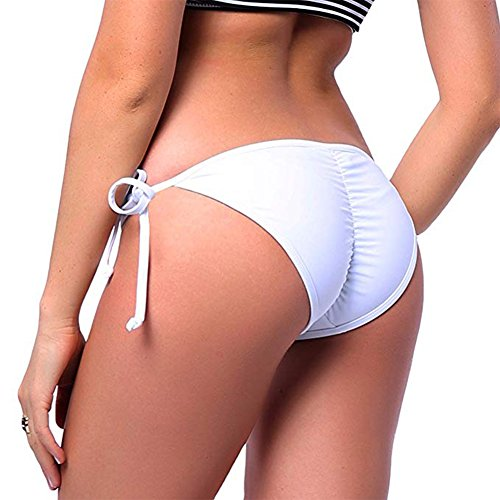 a5cbe6c1b4b09 KIWI RATA 2018 New Womens Swimwear Sexy Tie Side Sweet Heart Brazilian  Bikini Bottom Hipster Swimsuit Beachwear Swimwear