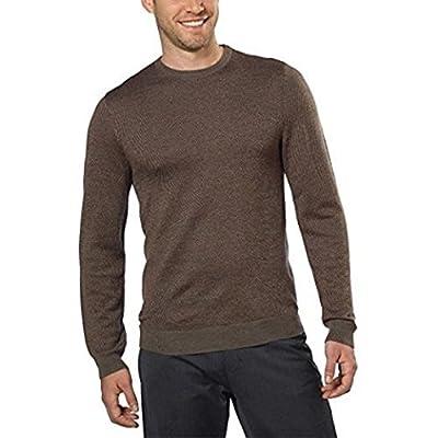 Calvin Klein Mens Italian Yarn Crew Neck Sweater, Oak, Medium