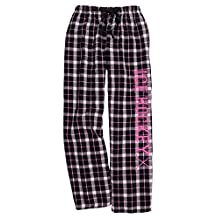 Ice Hockey Black Pink Lounge Flannel Pant with Pockets