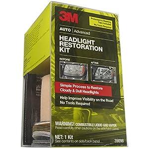 Amazon Com 3m 39098 Headlight Restoration Kit With Tape
