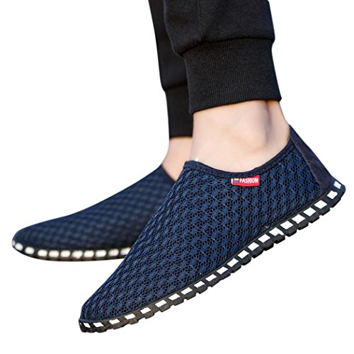 Fheaven Hot Sale Sandals Men Shoes Hollow Out Breathable Casual Couple Beach Outdoor Sneaker (US:9.5, Dark Blue) by Fheaven
