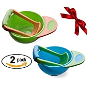 Sterify Mash and Serve Bowl for Making Homemade Baby Food- (2 Pack)