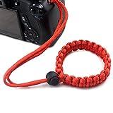 Cheap fibgihc 1pcs Chic Hand-made Parachute Rope Camera Wristband
