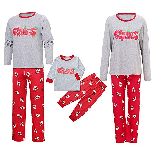 pajamas hlhn 2pcs pants jammies women family parent tops kids santa mom matching outfits sleeve christmas