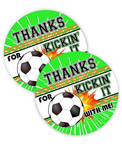 POP parties Soccer Party Favor Stickers - 40 Favor Bag Stickers - Soccer Party Thank You Tag - Soccer Party Supplies - Soccer Party Decorations - Stickers -