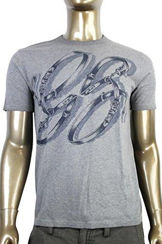 Horsebit Belt - Gucci Men's GG Logo Top Horsebit Graphic Belt T Shirt 337660 (2XL, Gray)