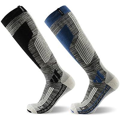 Skiing Socks, MEIKAN Merino Wool Thermal Knee High Ski Snowboard Socks for Men and Women
