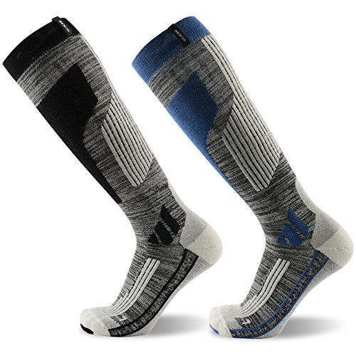 Skiing Socks Winter, MEIKAN Merino Wool Thermal Knee High Ski Snowboard Socks for Men and Women