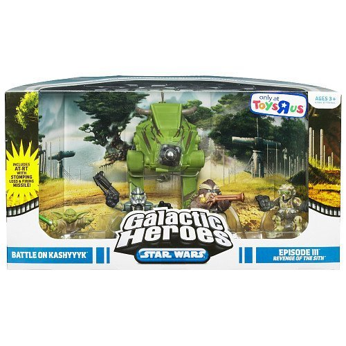 (Star Wars Galactic Heroes Deluxe Cinema Scene Mini Figure Multi Pack Battle on Kashyyyk)