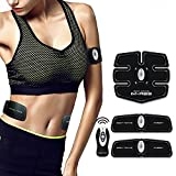 Cszlove Wireless ABS Toner Body Muscle Trainer Electronic Muscle Stimulation Fitness System ABS Fit Body Fit Arm Body Massager for Women - White