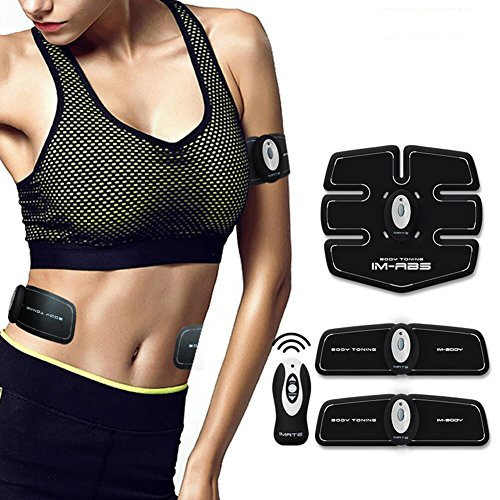 Cszlove Wireless ABS Toner Body Muscle Trainer Electronic Muscle Stimulation Fitness System ABS Fit Body Fit Arm Body Massager for Women - White by Cszlove