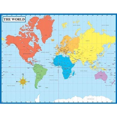 Carson Dellosa Map of the World Chart (114096)