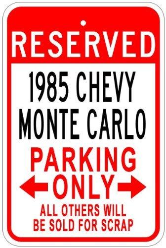 5 85 Monte Carlo Parking Sign Aluminum Wall Art Decorative Tin Sign Xmas Gift ()