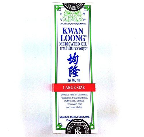 Kwan Loong Medicated Oil Grande Taille 28 Ml. Soulagement de la douleur, soulagement efficace de vertige