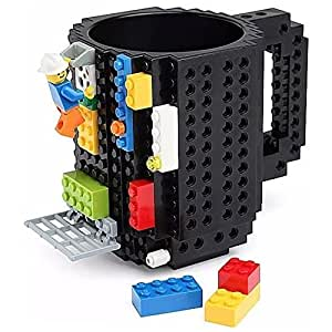 Taza Build-on Con Diseño De Blocks De Construccion Lego