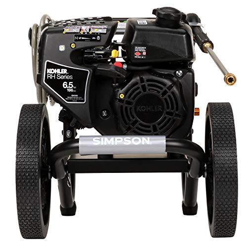 Simpson Cleaning MS60763-S MegaShot Gas Pressure Washer, 3100 PSI 2.4 GPM, Kohler RH265 OHV, AAA Triplex Pump Black