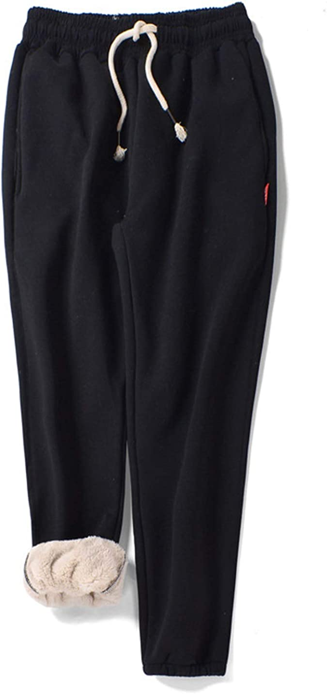 Gihuo Women's Winter Track Pants Sherpa Lined Sweatpants Athletic Joggers Pants