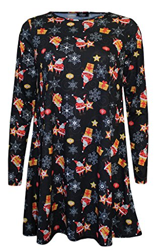 Oops Outlet - Robe - Robes - Manches Longues - Femme -  multicolore -  S/M (UK 8/10)