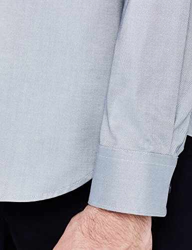Óxford Vestir Gris Fit Hombre Estilo De grey Camisa Meraki Regular aOSTOYx