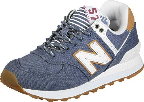 New Balance Damen WL574S Yatch Pack Sneaker, blau / braun / weiß