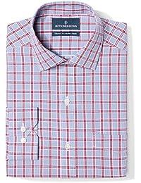 Men's Tailored Fit Plaid Non-Iron Dress Shirt