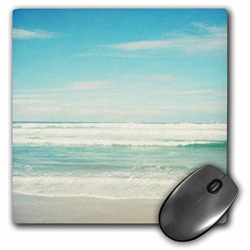 3dRose LLC 8 x 8 x 0.25 Inches Mouse Pad, Gentle Ocean Waves Beach Theme Art (mp_164479_1)