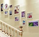 LQQGXL More picture frame sets, staircase wall frames, large picture frame wall coverings, the best wall decoration Photo frame