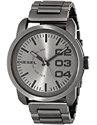 Diesel Mens DZ1558 Double Down Series Analog Display Analog Quartz Grey Watch