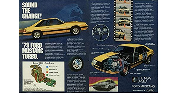 Amazon.com: Sound the charge! Ford Mustang Turbo ad 1979: Entertainment Collectibles