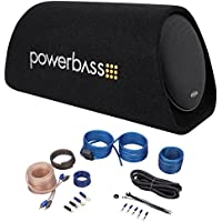 POWERBASS BTA8 8 150w Powered Loaded Subwoofer Bass Tube Sub Enclosure+Amp Kit