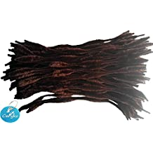 Caryko Fuzzy Bump Chenille Stems Pipe Cleaners, Pack of 100 (Coffee)