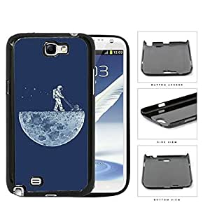 Man On The Moon Astronaut Mowing Hard Plastic Snap On Cell Phone Case Samsung Galaxy Note 2 II N7100