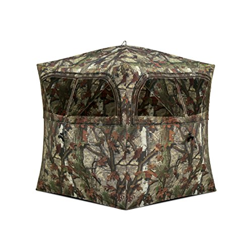 - Barronett Blinds GR251BT Grounder 250 Pop Up Portable 2 Person Blind, Bloodtrail Woodland Camo