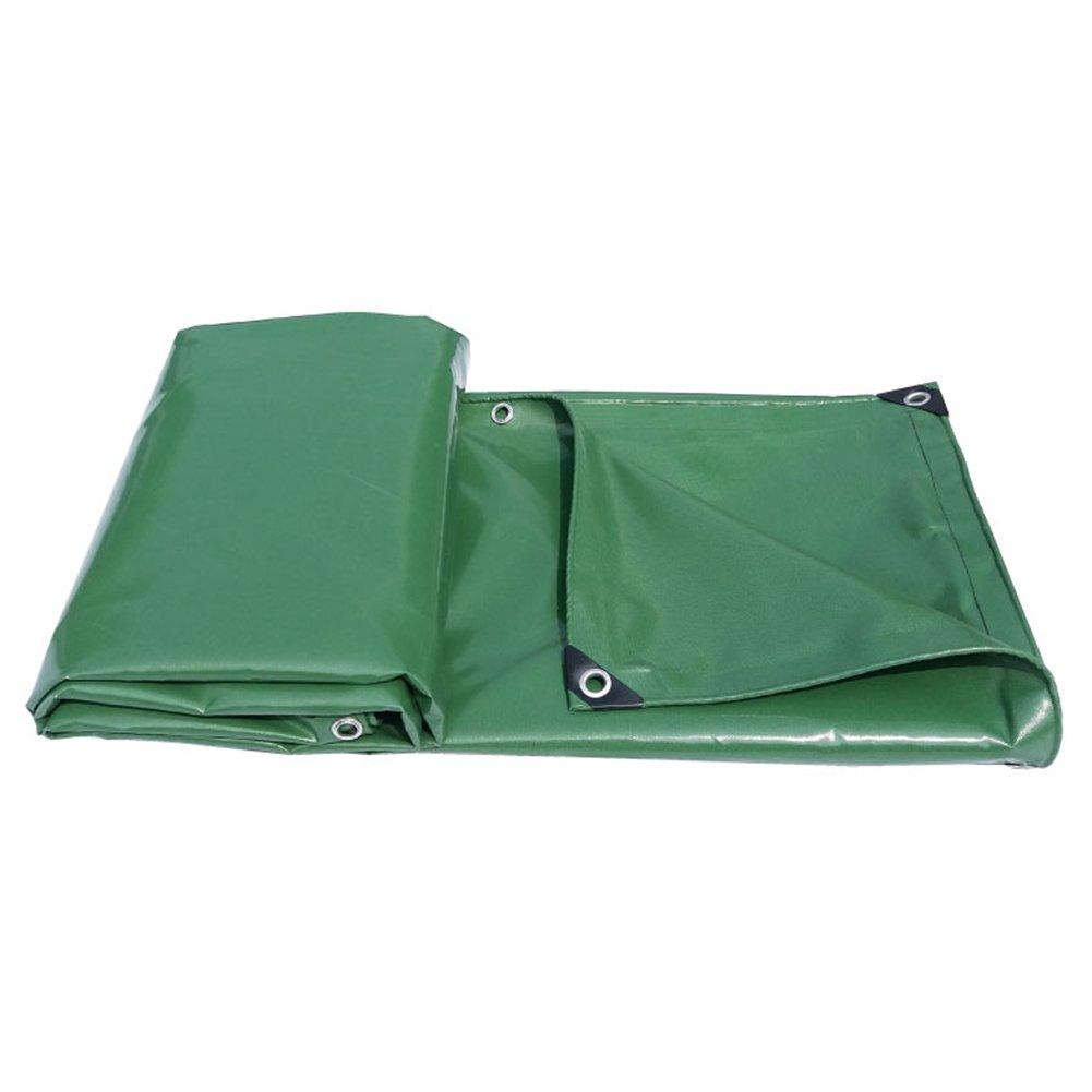 HAIPENG Plane Gewebeplane Holzplane Abdeckplane Schutzplane Wasserdicht Blatt Bodenbedeckungen PVC-Beschichtung Sonnenschutz Verdicken Segeltuch Schwerlast (Farbe   Grün, größe   1.9x2.9m)
