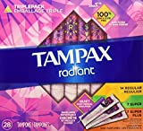 Tampax Radiant Tampons, Super Plus Absorbency, 28 Count