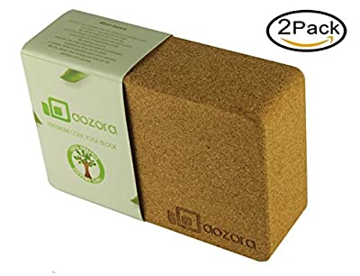 Aozora Cork Yoga Block | Sustainable & Eco Friendly | Made of the Finest Natural Cork for Better Support, Balance & Comfort | Perfect for Beginners to Advanced Yogis ¡