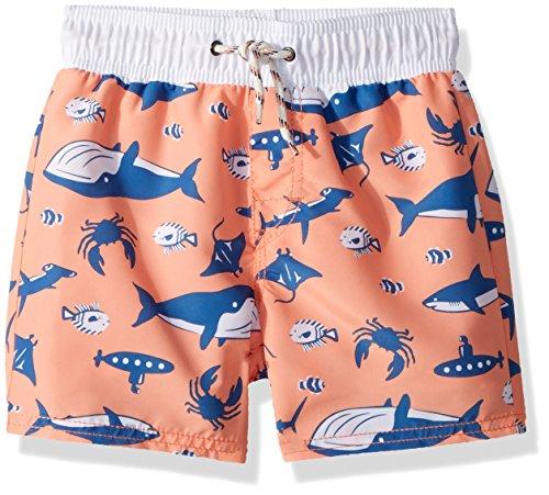 Osh Kosh Boys' Toddler Trunks, Orange Whale, 4T