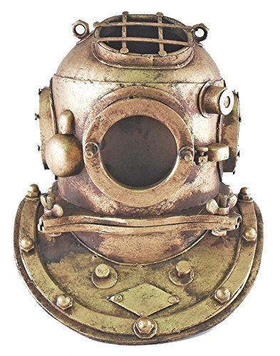 Moby Dick Deep Sea Diving Divers Helmet Nautical Reproduction Tin 7 Inch Table Top Decor