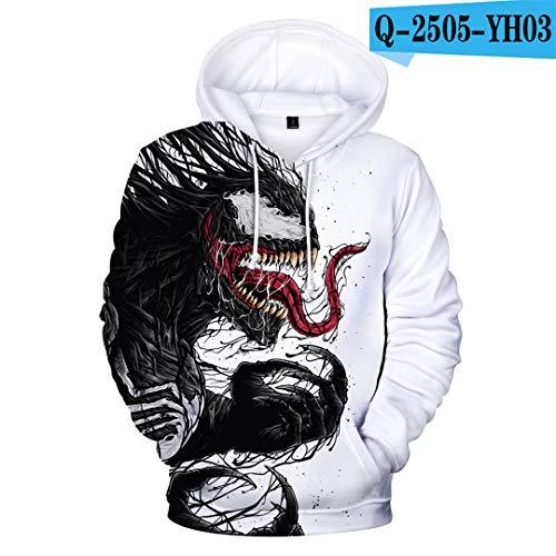 (New 3D Realistic Venom Hoodie Men's Printed Zipper Coat (colour-11, M))